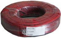 Dvojlinka 2x0,35mm2 22AWG červeno-černá, /CYH 2x0,35mm/