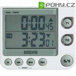 Digitální časovač EDT 4002 Eurochron, C5080, 90 x 76 x 21 mm, 2řádkový