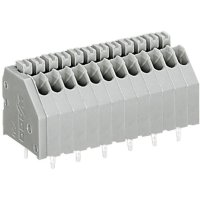 Pájecí svorkovnice série 250 WAGO 250-412, AWG 24-20, 0,4 - 0,8 mm², 12, 2,5 mm, 2 A, šedá