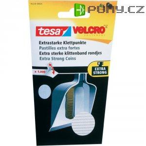 Silné kolečka na suchý zip pro nalepení Tesa On&Off, Ø 45 mm, 4 páry, bílá