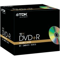 TDK DVD+R DL 8,5GB 8X 10 ks v krabičce