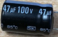 47u/100V 85° 10x16x5mm, elektrolyt.kondenzátor radiální