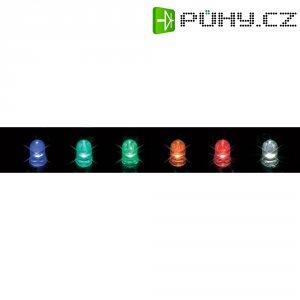 LED dioda kulatá s vývody Everlight Opto, 393-2SURD/S530-A3, 20 mA, 8 mm, 2 V, 60 °, 125 mcd, červená