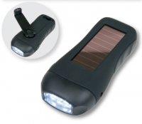 VELAMP 3 LED baterka - solární dobíjení nebo dynamo IN380
