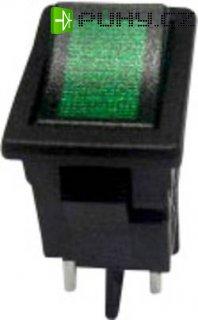 Kolébkový spínač s aretací SCI R13-73C-02, 250 V/AC, 6 A