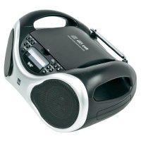 DAB+ a FM rádio s CD/MP3 přehrávačem a USB, Dual DAB-P 100, stříbrná, černá
