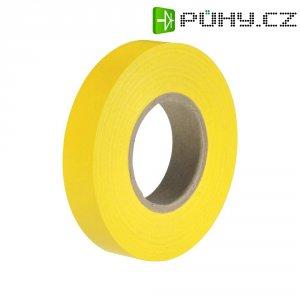 Izolační páska HellermannTyton HelaTapeFlex 15, 710-00113, 15 mm x 25 m, žlutá