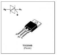 Triak BTA08-600SW 600V/8A, Igt 10mA TO220