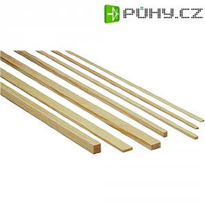 Lišta z borového dřeva, 1000 x 12 x 12 mm, 10 ks