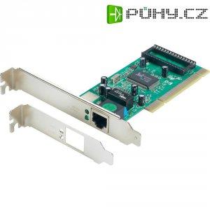 Síťová karta PCI Gigabit Ethernet, 1x RJ45, 1x PCI