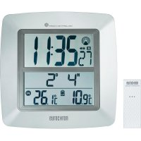 Digitální nástěnné DCF hodiny Eurochron EFWU 1600, 5509, 254 x 254 x 40 mm, stříbrná