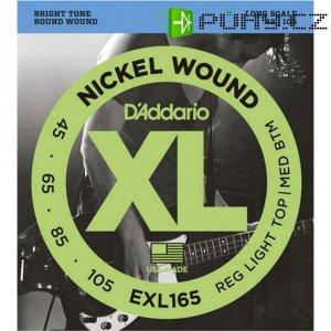Kovové struny na baskytaru D´Addario EXL 165TP, 045 - 105