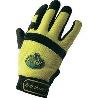 Pracovní rukavice anti-shock, CLARINOR - syntetická kůže, velikost M (8)