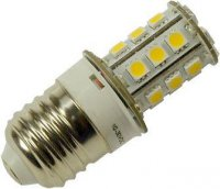 Žárovka LED E27-12V, 27xSMD5050, bílá