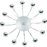 Analogové nástěnné hodiny TFA Spider, 60-3010, Ø 28,5 x 4,5 cm, stříbrná