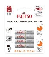 Baterie HR-3UTCEX-4B WHITE AAA 4x FUJITSU nabíjecí