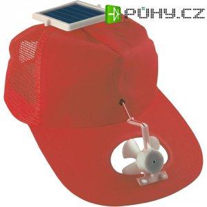 Solární čepice s ventilátorkem, červená