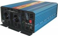 Měnič 24V/230V 2000W,čistá sinusovka,CARSPA, dálkové ovládání
