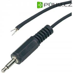 Jack konektor 3,5 mm stereo BKL Electronic, zástrčka rovná, 3pól., černá