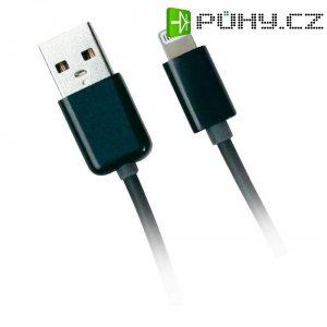USB 2.0 nabíjecí/datový kabel pro Apple iPad/iPhone/iPod s Lighting konektorem, černý, 0
