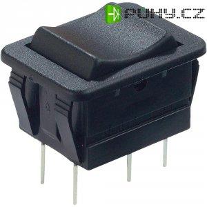 Kolébkový spínač Arcolectric C1560VBAAD, 2x zap/zap, 250 V/AC, 16 A, černá