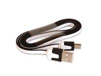 Kabel USB - Micro USB plochý bílý 80 cm CPA