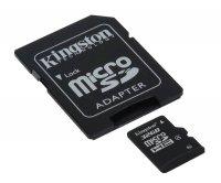 Karta paměťová KINGSTON Micro SDHC 32GB Class 4 + adaptér