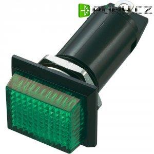 Neonové signalizační světlo SCI, zelená, obdélníkové