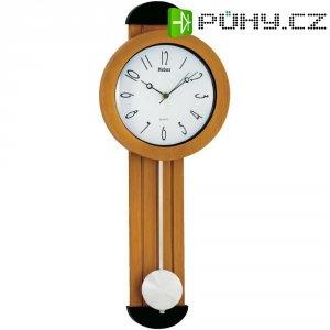 Quarz kyvadlové hodiny - pendlovky, 14959, 21 x 53,5 x 5 cm, hnědá
