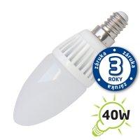 Žárovka LED C37 E14 5W bílá teplá (Al)