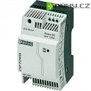 Zdroj na DIN lištu Phoenix Contact STEP-PS/1AC/24DC/1.75, 24 V/DC, 1,75 A