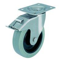 Otočné kolečko s konstrukční deskou a brzdou, Ø 200 mm, Blickle LEX-POEV 200XR-FI-SG