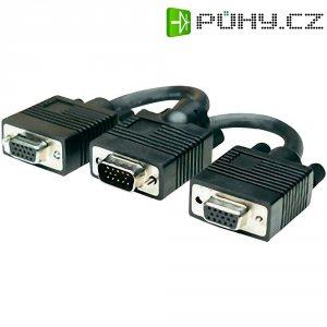 Manhattan SVGA kabel, VGA zástrčka/VGA zásuvka, 0,15 m