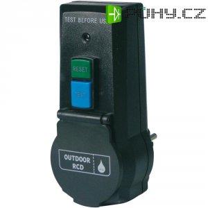 Bezpečnostní mezizásuvka PRCD-2P, s proudovým chráničem RCD, IP44, 30 mA, černá