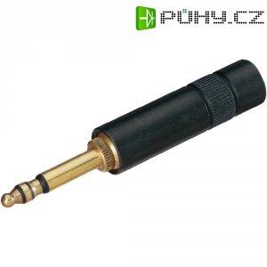 Jack konektor 5,23 mm stereo Neutrik NP 3 CM-B stereo, zástrčka rovná, 4 - 7 mm, 3pól., černá