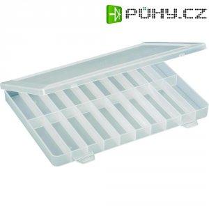 Box na součástky, 250 x 180 x 24 mm, transparentní (difuzní)