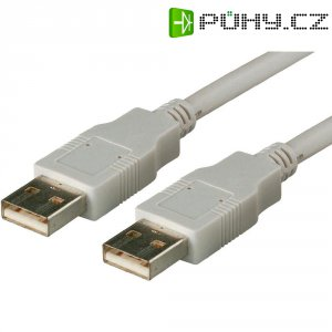 Kabel USB 2.0, A/A, 1m, šedý, Digitus