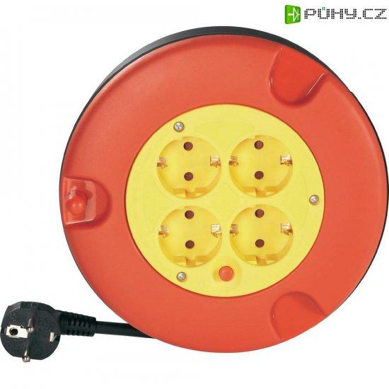 Kabelový buben, 4 zásuvky, 5 m, červená/žlutá - Kliknutím na obrázek zavřete