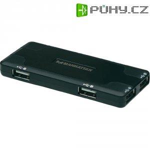 USB 2.0 hub Manhattan Hi-Speed, 7-portový, černý