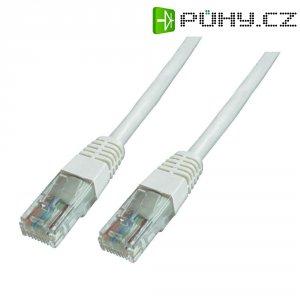 Patch kabel CAT 6 U/UTP RJ 45, vidlice ⇔ vidlice, 10 m, bílý