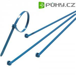 Stahovací pásky s ocelovým pojistkou ABB TY523M-NDT, 92 x 2,4 mm, 100 ks, modré