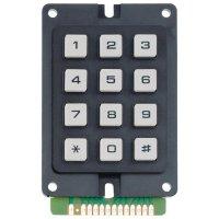 Tlačítkové pole 1 x 12, Matrix 3 x 4, šířka 55 mm