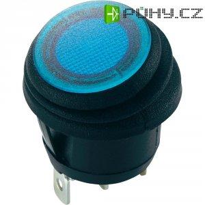 Tlačítkový spínač SCI, R13-112B8W, 12 V/DC, 20 A, IP65, 1x zap./vyp., modrá