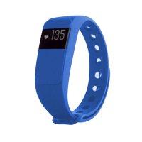 Fitness náramek s měřením tepu FT64S OLED, Bluetooth 4.0, Android+iOS modrá