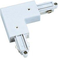 Rohová spojka SLV pro 1fázový HV kolejnicový systém 143061, bílá