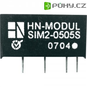 DC/DC měnič HN Power SIM2-1515D-SIL7, vstup 15 V, výstup ± 15 V, ± 66 mA, 2 W