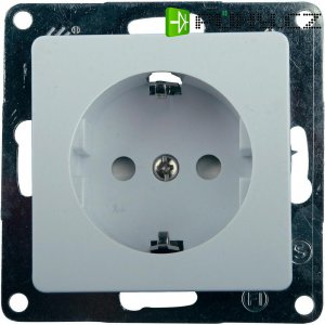 Kombinace vypínače a zásuvky GAO Nova, 4236, bílá, schuko