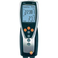 Teploměr testo 735-2, Pt100:-200 až +800 oC, typ K: -200 až +1370 oC
