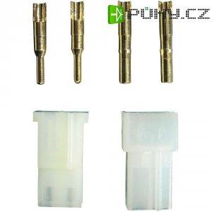 Konektor AMP Modelcraft, zásuvka a zástrčka, zlaté kontakty, 5 ks