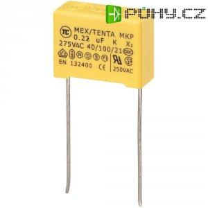 Foliový kondenzátor MKP, 0,22 µF, X2 275 V/AC, 10 %, 18 x 7,5 x 13,5 mm